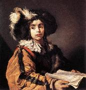 VIGNON, Claude The Young Singer  et oil painting artist